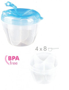 4 Compartment Twist 'n' Lock -- Baby Food Powder Milk Dispenser Container