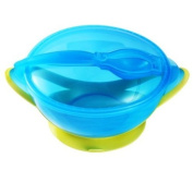 Baby Suction Travel Bowl with Spoon & Lid - 6 m+ - Lime