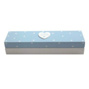 Baby Boy Wooden Birth Certificate Box - Blue