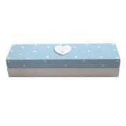 Baby Boy Wooden Birth Certificate Box - Blue