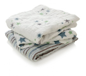 aden + anais Prince Charming 100% Cotton Muslin Square Musy