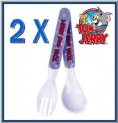 2 x Tom & Jerry Baby Cutlery Set Infant Kids Toddler Children Cutlery Set