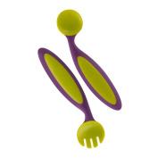 Benders Adaptable Utensils Fork and Spoon Set Grape Kiwi