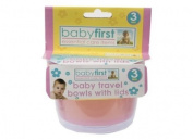 Babys First Travel Feeding Bowls With Lids 3/Pack