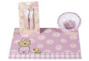 p:os 66362 Wide Rimmed Baby Bowl Pitzelpatz Design Melamine Pink