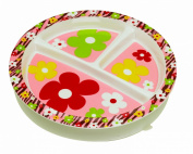 Sugarbooger Divided Suction Plate Forest Flowers for 3 Months