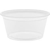 250 x Dart 2Oz (59ml) Portion Pot with Lid - Ideal for Salad Dressing, Baby Food, Jelly Shots