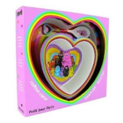 Barbapapa 3 Piece Melamine Set - Heart Shaped