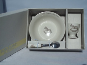 Bambino Baby Christening Gifts. Ceramic Three Piece Breakfast Set
