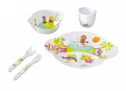 Babymoov Hippo Traveller Dinnerware Set