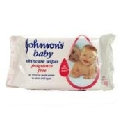 Johnsons Baby Skincare Wipes Fragrance Free 64