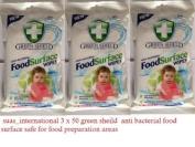 Antibacterial food surface wipe