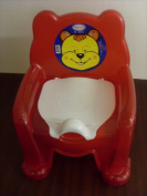 High Quality Red Kids Potty Training Chair Seat With Removable Potty Lid New