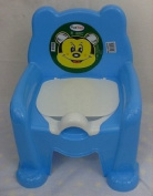 Baby Potty Trainer Potty Training Seat Chair Blue With Removable Potty Pot New