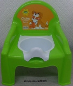KIDS/CHILD TODDLER BABY POTTY TRAINING CHAIR SEAT WITH REMOVABLE POTTY LID GREEN
