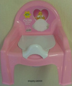 CUTE TODDLER KIDS POTTY TRAINING CHAIR SEAT WITH REMOVABLE POTTY LID PINK
