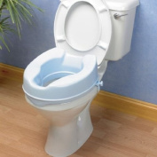 "Raised Toilet Seat Savanah 10cm / 4"" with Lid - Blue"