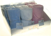 Blue Cellular Cotton Blanket for Pram, Crib or Moses Basket.