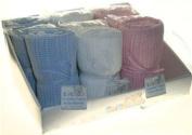 Blue Cellular Cotton Blanket for Pram, Crib or Moses Basket.