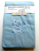 Soft Touch Blue Baby Fleece Pram Blanket 75 x 100cm approx