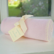 Tuppence and Crumble soft fleece new born baby blanket Pale Pink