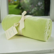 Tuppence and Crumble soft fleece new born baby blanket Apple