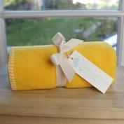 Tuppence and Crumble soft fleece buggy blanket Yellow