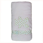 Minene Fleece Blanket with Flowers