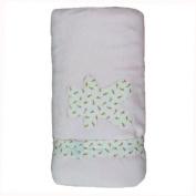 Minene Fleece Blanket with Flowers
