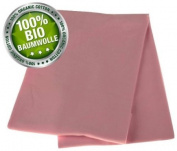 KAARSGAREN Baby blanket, snuggle blanket, new born blanket, summer blanket, 70x100cm, made from 100% BIO COTTON; PINK
