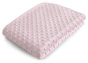 Luxury Bubble Pram Blanket in Pink