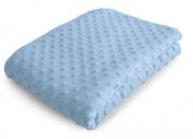 Luxury Bubble Pram Blanket in Blue