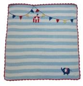 Powell Craft Hand Knitted Elephant Pram Blanket