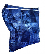 FAB4BABYSTARS, Jean Print Wet Bag, Wet Bag, Nappy Bag, Holiday Bag, Toiletry Bag, Storage Bag for Toys, Stretchy, Waterproof Material with Zip, Handle for Hanging up