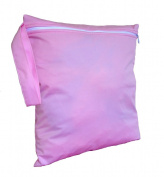 FAB4BABYSTARS, Pink, Wet Bag, Nappy Bag, Holiday Bag, Toiletry Bag, Snack Bag, Storage Bag for Toys, Stretchy, Waterproof Material with Zip, Handle for Hanging up