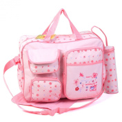 3pcs Baby Diaper Nappy Chaning Bags - Pink Flower 91351