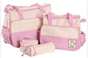 5pcs Baby Nappy Changing Bags Set in Pink