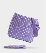 The Old Bag Company Emma Oil Cloth Baby Changing Bag in Spotty Design Includes Matching Changing Mat- Lilac.