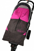 ByBUM - Footmuff 5.1cm 1 for Spring, Summer and Autumn/Fall; Universal for infant and child car seats, eg; Maxi-Cosi, for a pushchair/stroller or buggy; ANTHRACITE/FUCHSIA