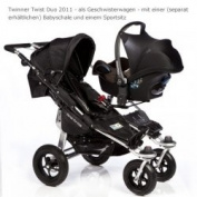 TFK Trends for Kids Twinner Twist Duo II Double Stroller, Mud
