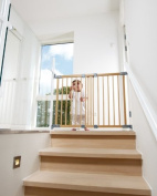 BabyDan Super Flexi Fit Wood Extending Safety Gate