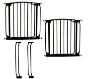 Dreambaby Value Pack 2 Safety Gates Black with 2 9cm Extensions