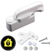 Sash Jammers - Extra Security Locks for uPVC Window & Doors - White