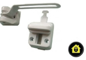 UPVC Door Chain Window Restrictor. Safe T Bar. Extra Security Lock. Child Safety Chain - White