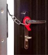 Secure-Ring Standard Security Door Chain - black