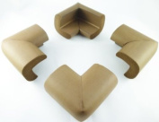 4 x Akord BABY SAFETY CORNER PROTECTION - NUT BROWN DESK TABLE COVER PROTECTOR - SAFE FOR CHILD