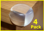 4X Round Soft Corner Protectors Baby & Child Furniture Protection