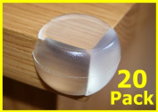 20X Round Soft Corner Protectors Baby & Child Furniture Protection