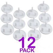 12/24 Pack - Baby/Child Proof Plug Socket Safety Cover Protector Protection Guard - Round 3 Pin Plug Socket UK