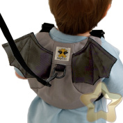 Toddler Reins Safety Harness Strap Backpack Rucksack Walker Wrist Boy Girl Bat BAR804A